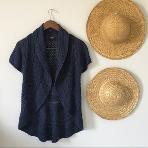 2/$15 Navy Blue Knitted T-Shirt Sweater Vest Small
